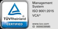 TÜV & VCA certified
